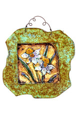 PAPER & STONE DAFFODILS WALL PLAQUE
