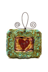 PAPER & STONE FRAMED HEART WALL PLAQUE