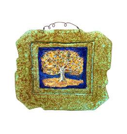 PAPER & STONE OAK TREE WALL PLAQUE