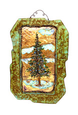 PAPER & STONE PINE TREE WALL PLAQUE