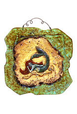 PAPER & STONE SMALL RECLINING MERMAID WALL PLAQUE