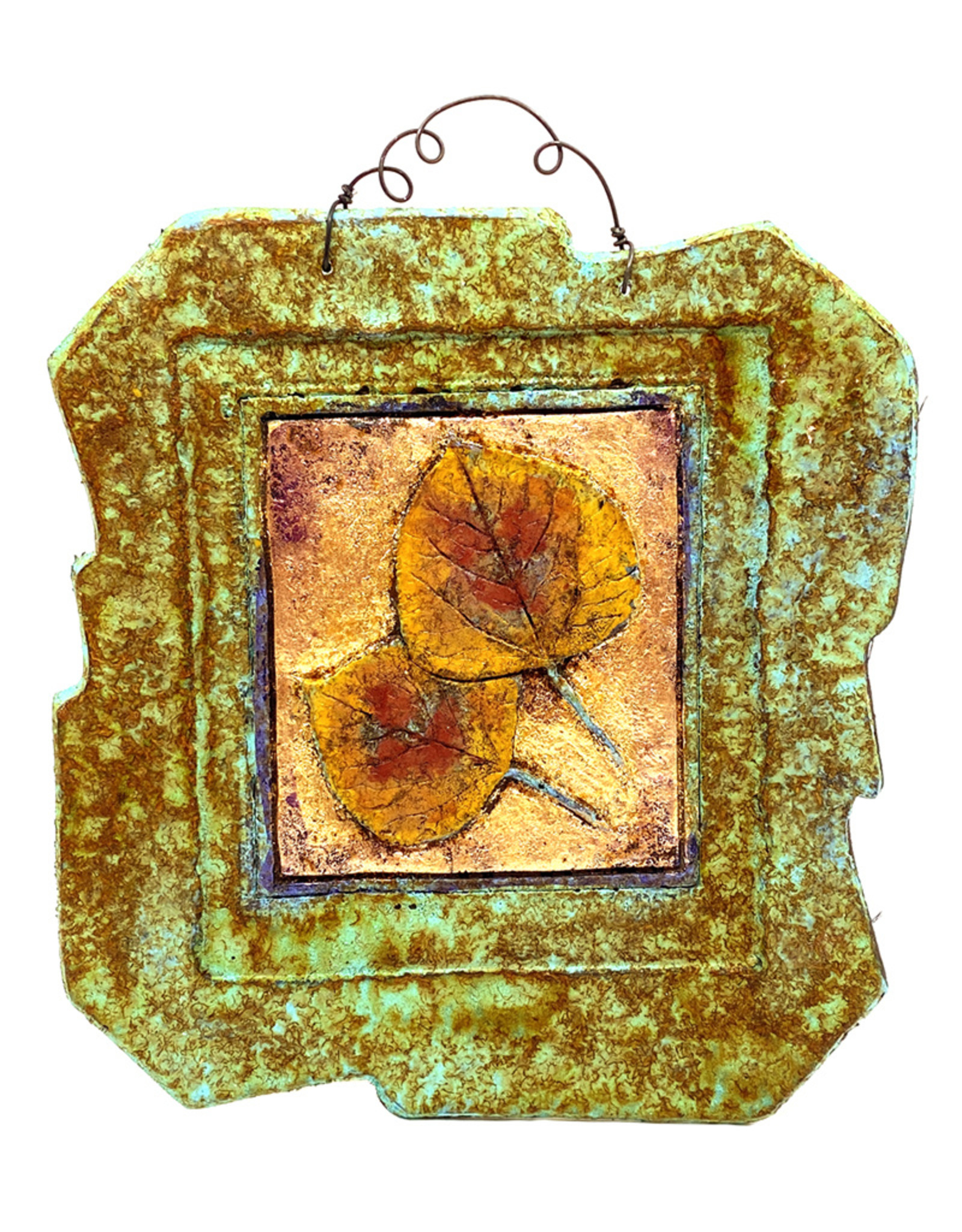 PAPER & STONE ASPEN LEAVES WALL PLAQUE