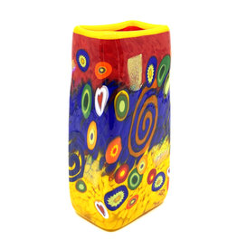 MAD ART RED SPIRAL BABY RECTANGLE VASE