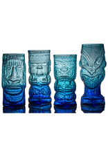 IANNAZZI GLASS DESIGN HEAD HUNTER BLUE LAGOON GLASS TIKI MUG