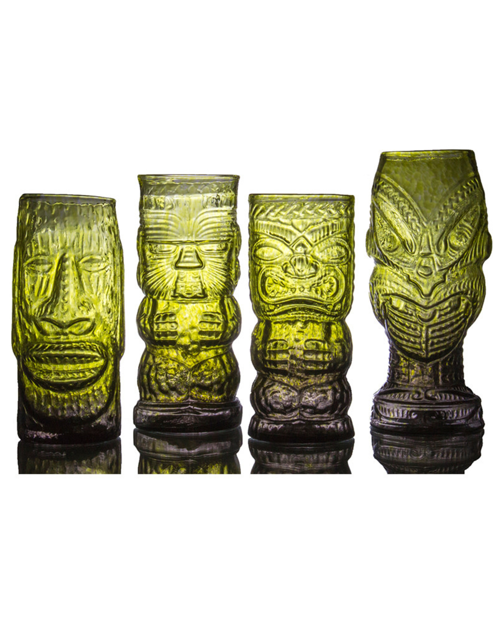IANNAZZI GLASS DESIGN MOAI JUNGLE FOG GLASS TIKI MUG