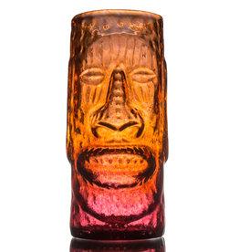 IANNAZZI GLASS DESIGN MOAI LAVA RED GLASSS TIKI MUG