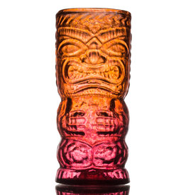 IANNAZZI GLASS DESIGN O.G. LAVA RED GLASS TIKI MUG