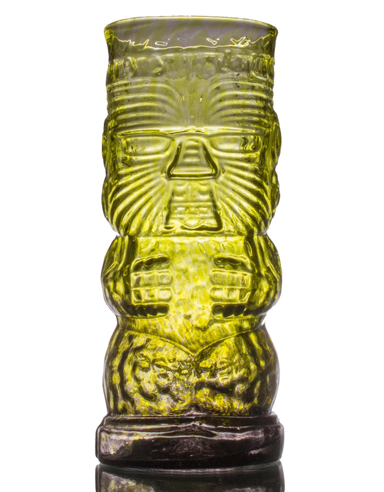 IANNAZZI GLASS DESIGN WARRIOR JUNGLE FOG GLASS TIKI MUG