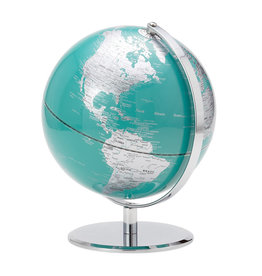TORRE & TAGUS TURQUOISE AND SILVER WORLD GLOBE