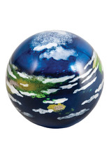 GLASS EYE EARTH PLANETARY PAPERWEIGHT