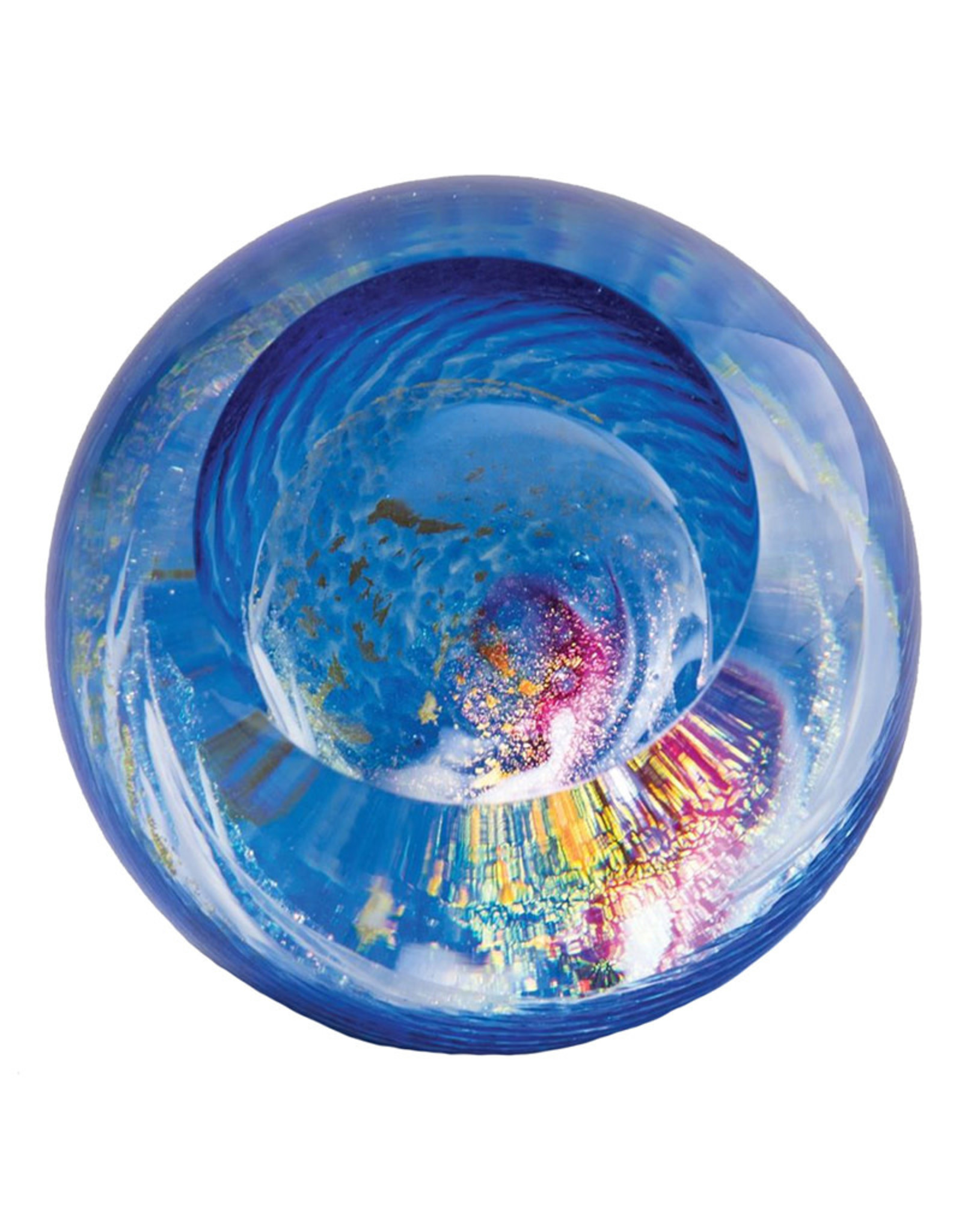 GLASS EYE MILKY WAY CELESTIAL PAPERWEIGHT