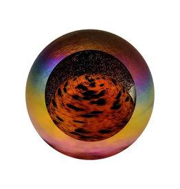 GLASS EYE MARS PLANETARY PAPERWEIGHT
