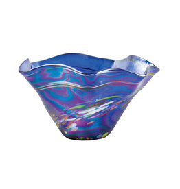 GLASS EYE BLUE RAINBOW TWIST MINI FLOPPY BOWL