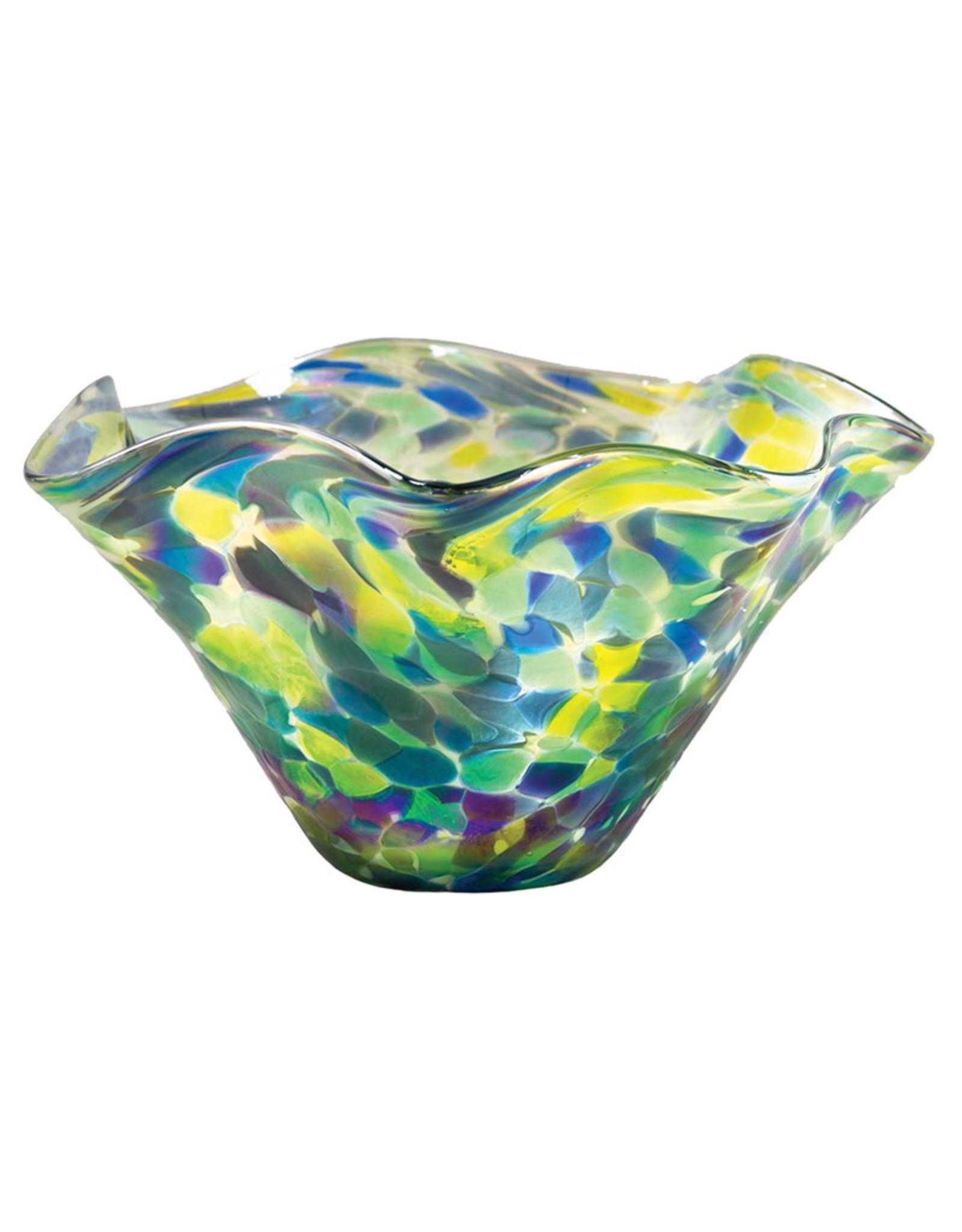 GLASS EYE BLUE BONNET MINI FLOPPY BOWL