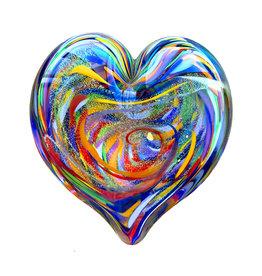 GLASS EYE WISDOM HEART PAPERWEIGHT