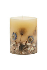 ROSY RINGS BEACH DAISY SMALL ROUND BOTANICAL CANDLE