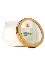 ROSY RINGS BEACH DAISY LARGE PRESSED FLOWER CANDLE