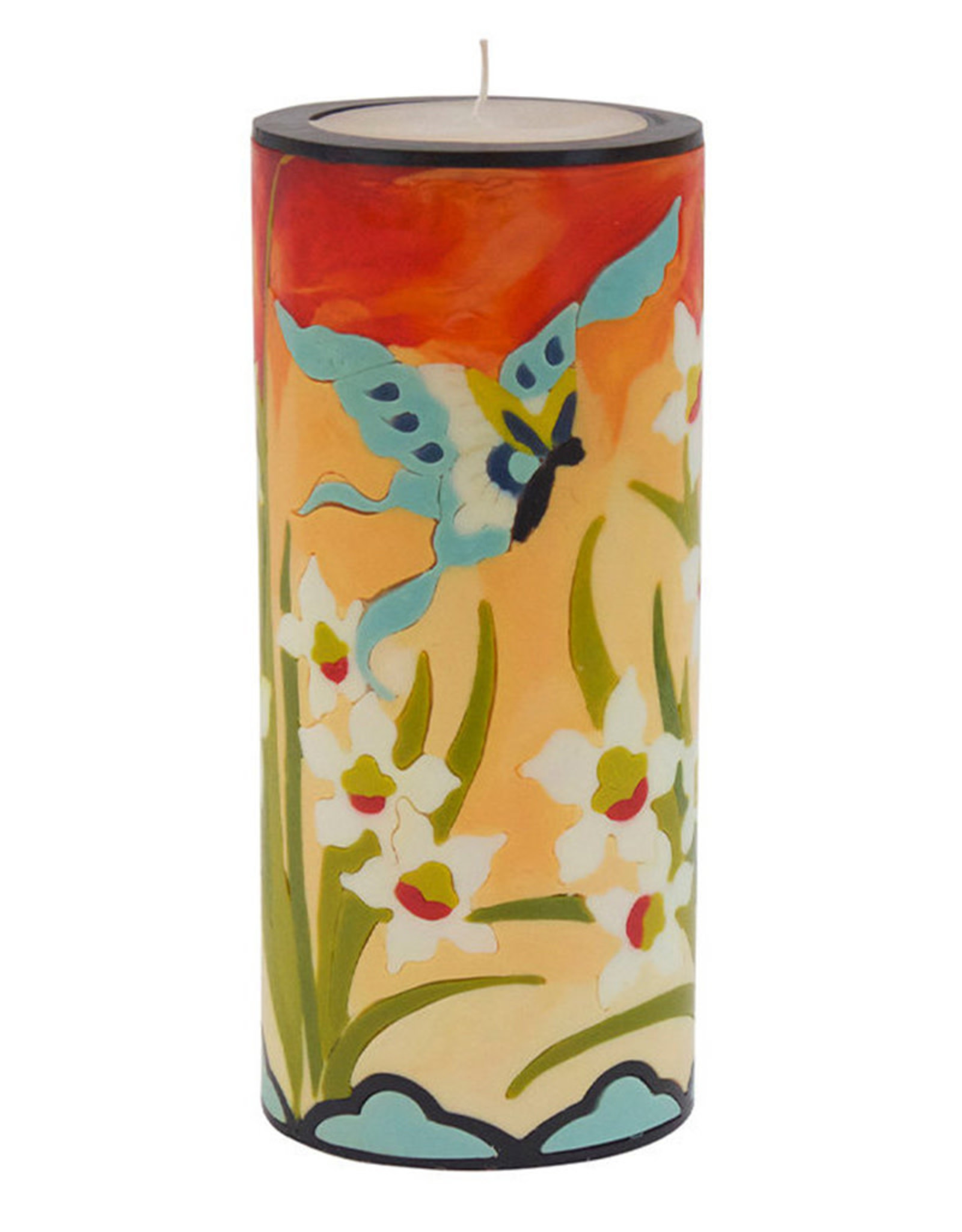 MOON ALLEY LARGE BUTTERFLY & ORCHID CANDLE