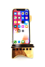 LOST ART WOODWORKS NATURAL WOOD XIII MARQUETRY INLAID PHONE STAND