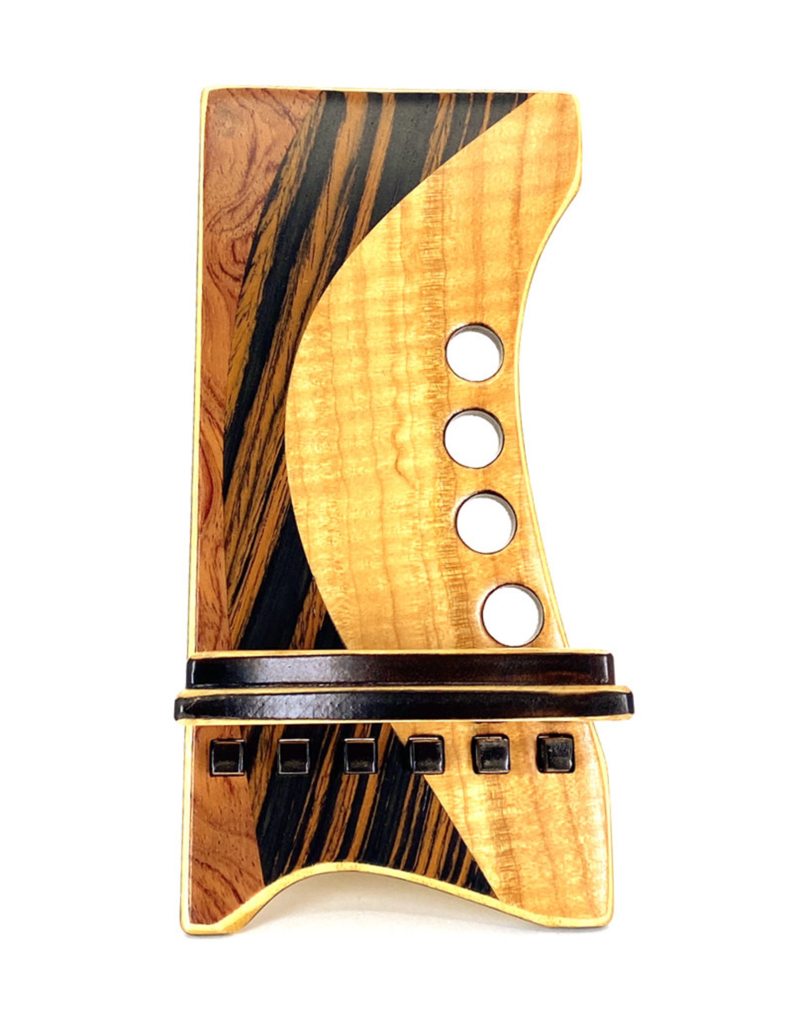 LOST ART WOODWORKS NATURAL WOOD XI MARQUETRY INLAID PHONE STAND