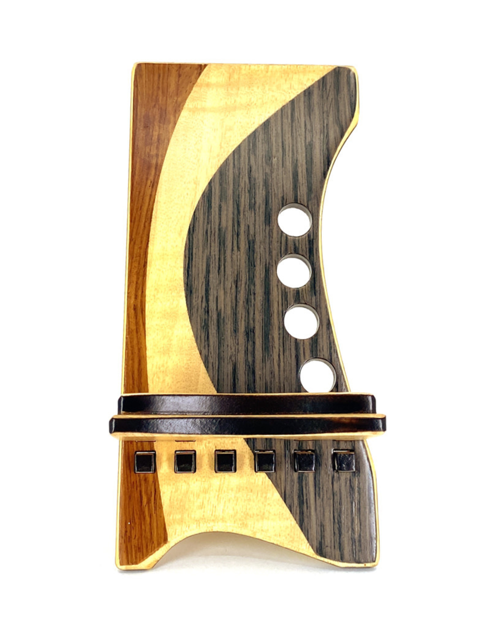 LOST ART WOODWORKS NATURAL WOOD X MARQUETRY INLAID PHONE STAND