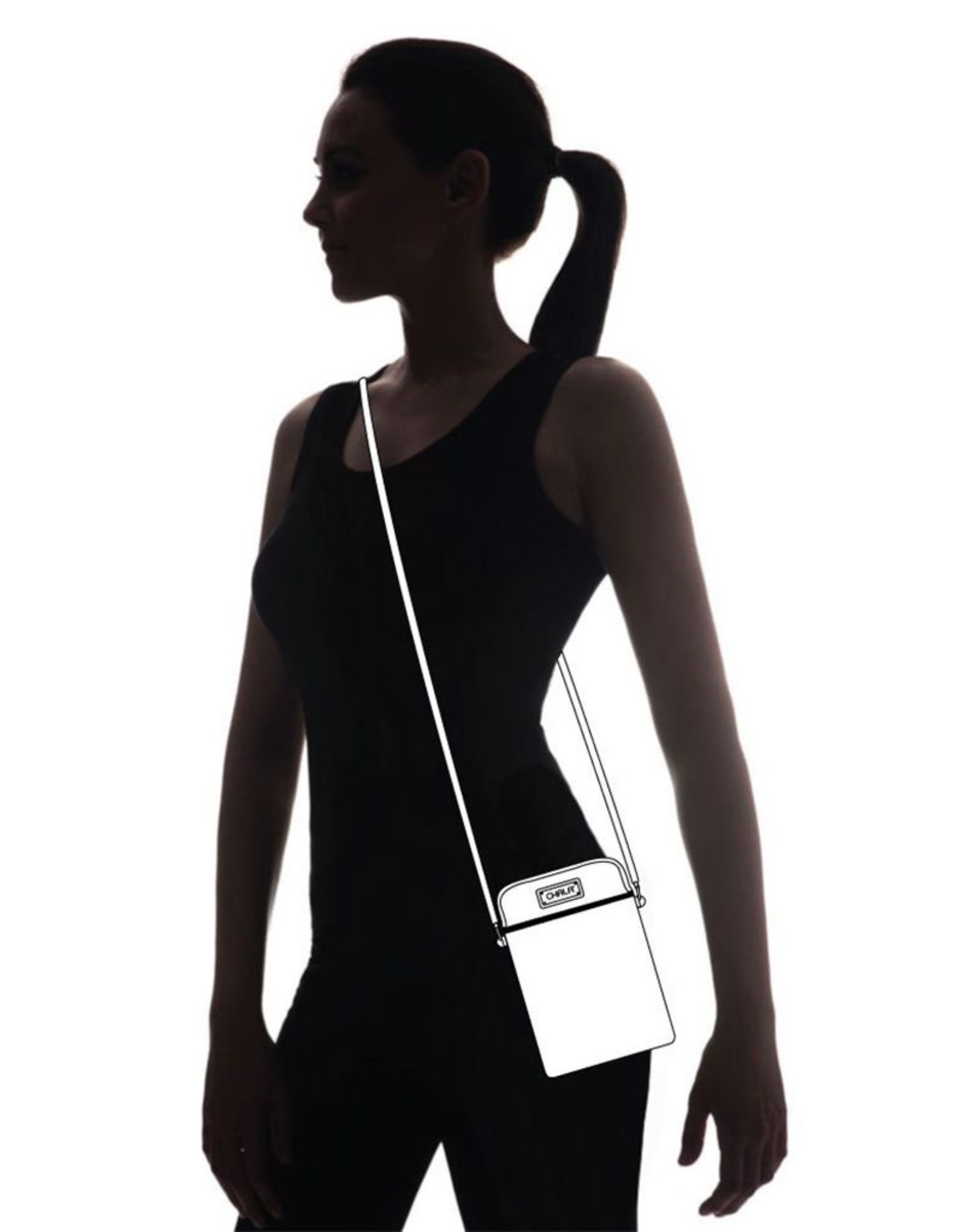 CHALA BURGUNDY PAW PRINT DAZZLED CELL PHONE CROSSBODY