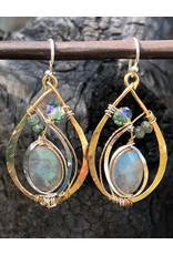 ART BY ANY MEANS LABRADORITE LEAF EARRINGS