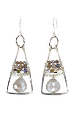 ART BY ANY MEANS MOONSTONE PYRAMID EARRINGS