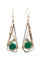 ART BY ANY MEANS AMAZONITE EARRINGS