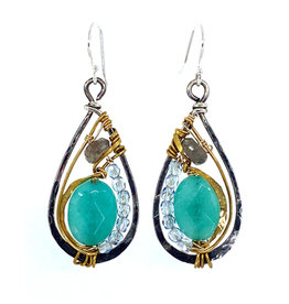ART BY ANY MEANS NEW JADE DROP EARRINGS