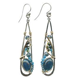 ART BY ANY MEANS APATITE ATMOSPHERE EARRINGS