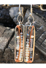 ART BY ANY MEANS PEARL & MOONSTONE MAZE EARRINGS