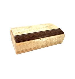 MIKUTOWSKI WOODWORKING MAPLE & WENGE TREASURE BOX