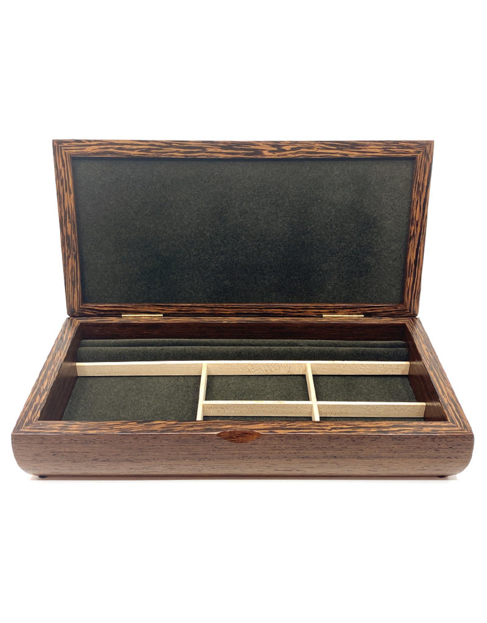MIKUTOWSKI WOODWORKING ZEBRAWOOD & WENGE VALET BOX