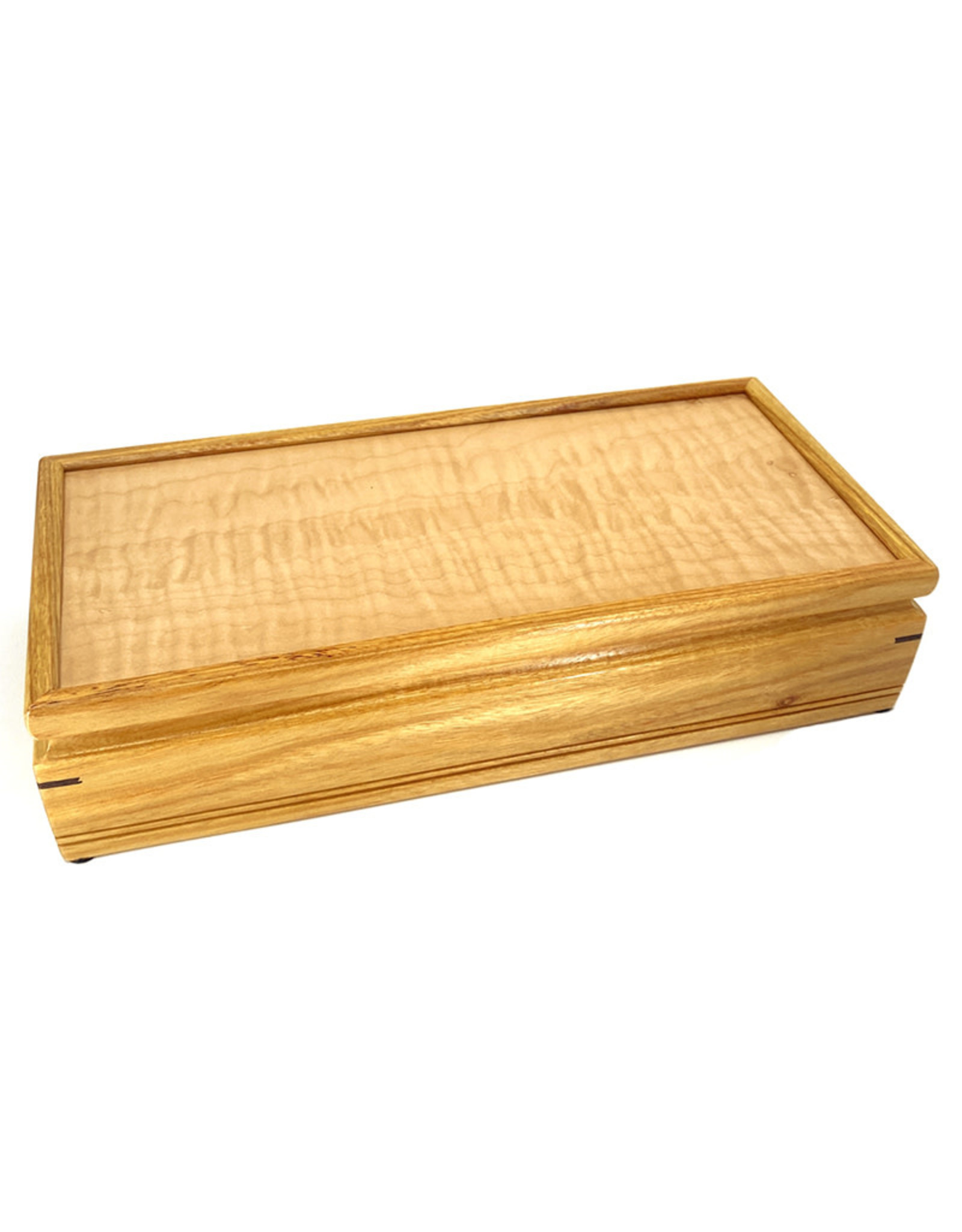 MIKUTOWSKI WOODWORKING MAPLE & CANARYWOOD SENTINEL BOX