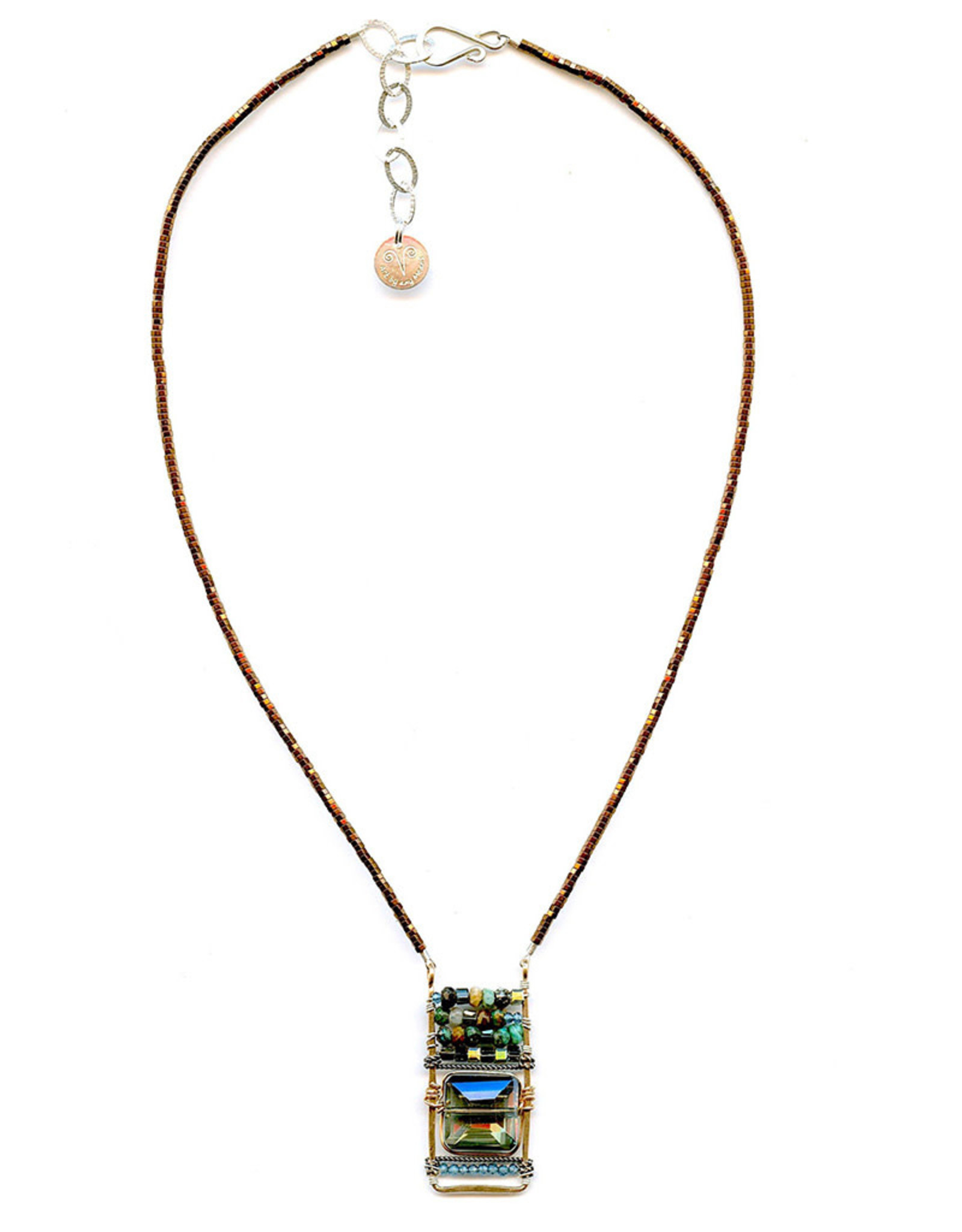 ART BY ANY MEANS CRYSTAL TILE NECKLACE