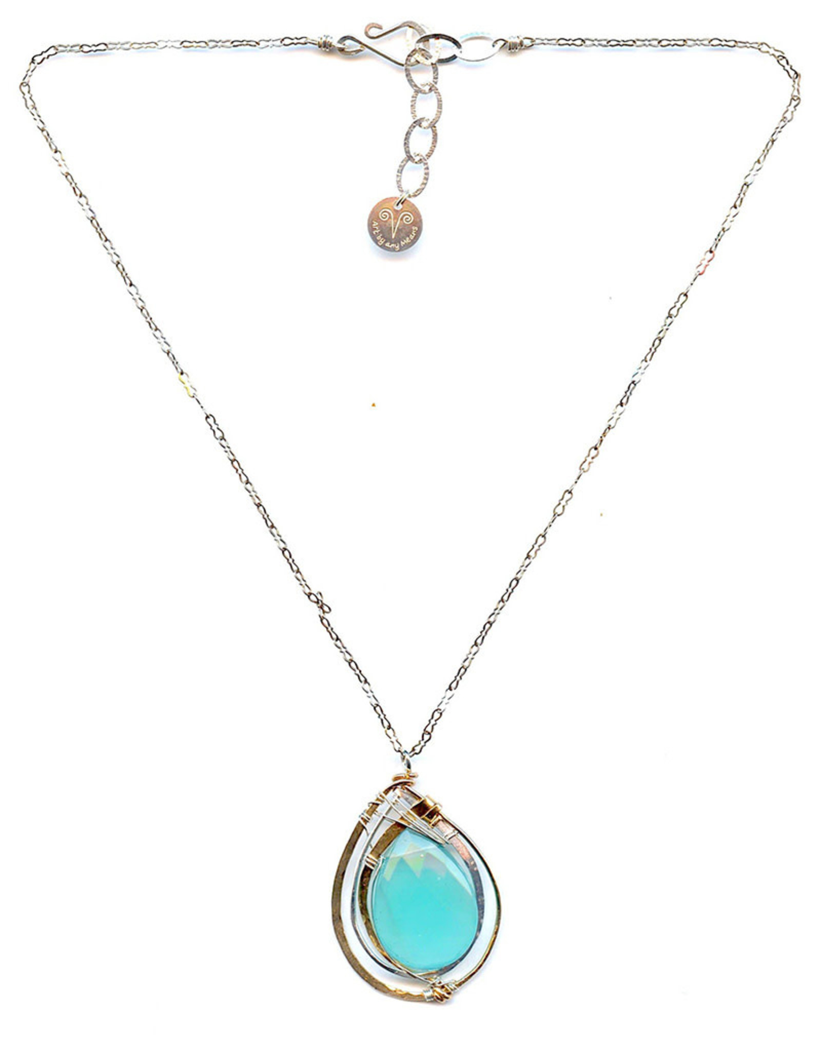 ART BY ANY MEANS RAINDROP PENDANT NECKLACE