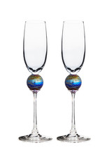 ROMEO GLASS SPIDER PLANET FLUTE GLASS