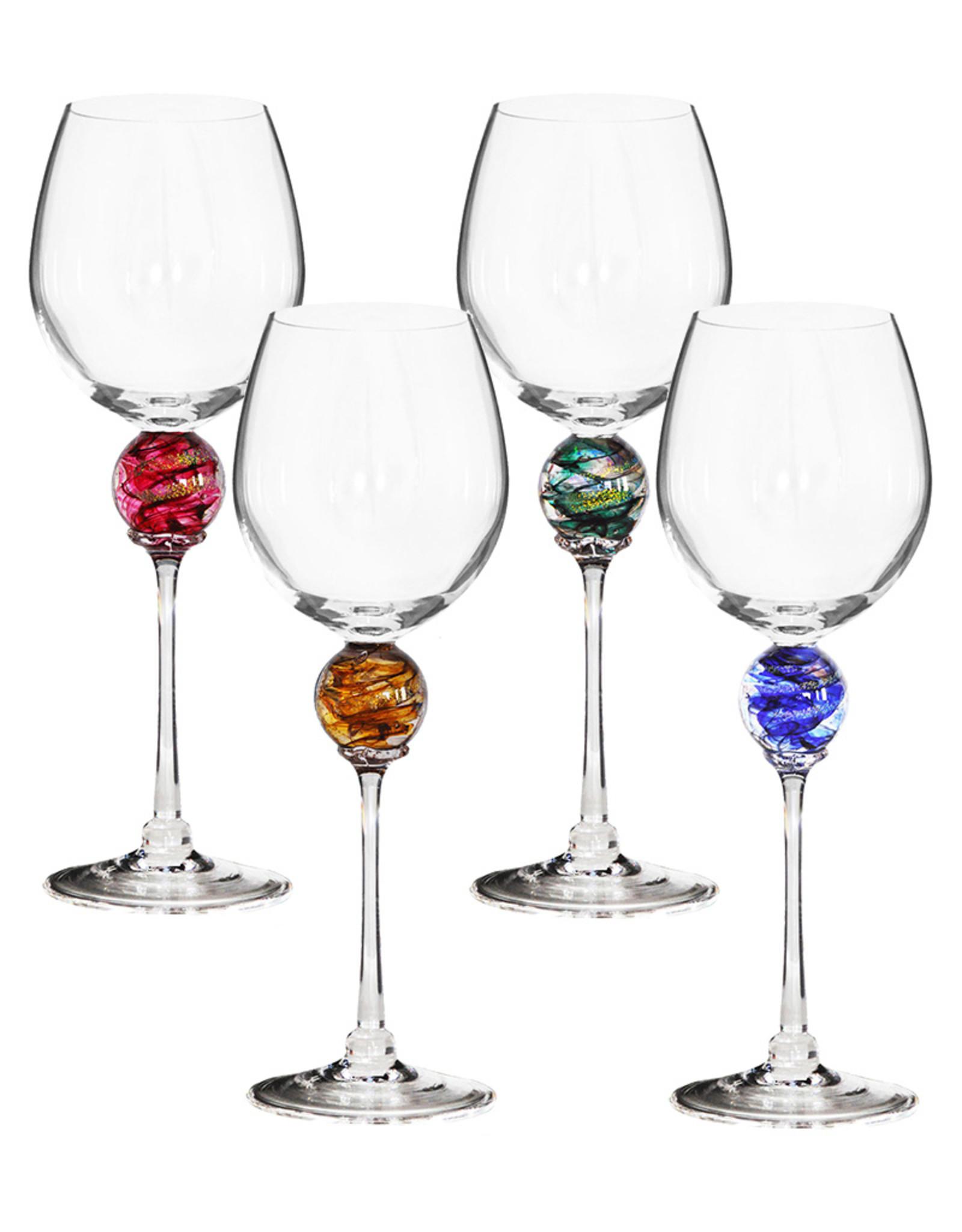 ROMEO GLASS AMETHYST PLANET WINE GLASS