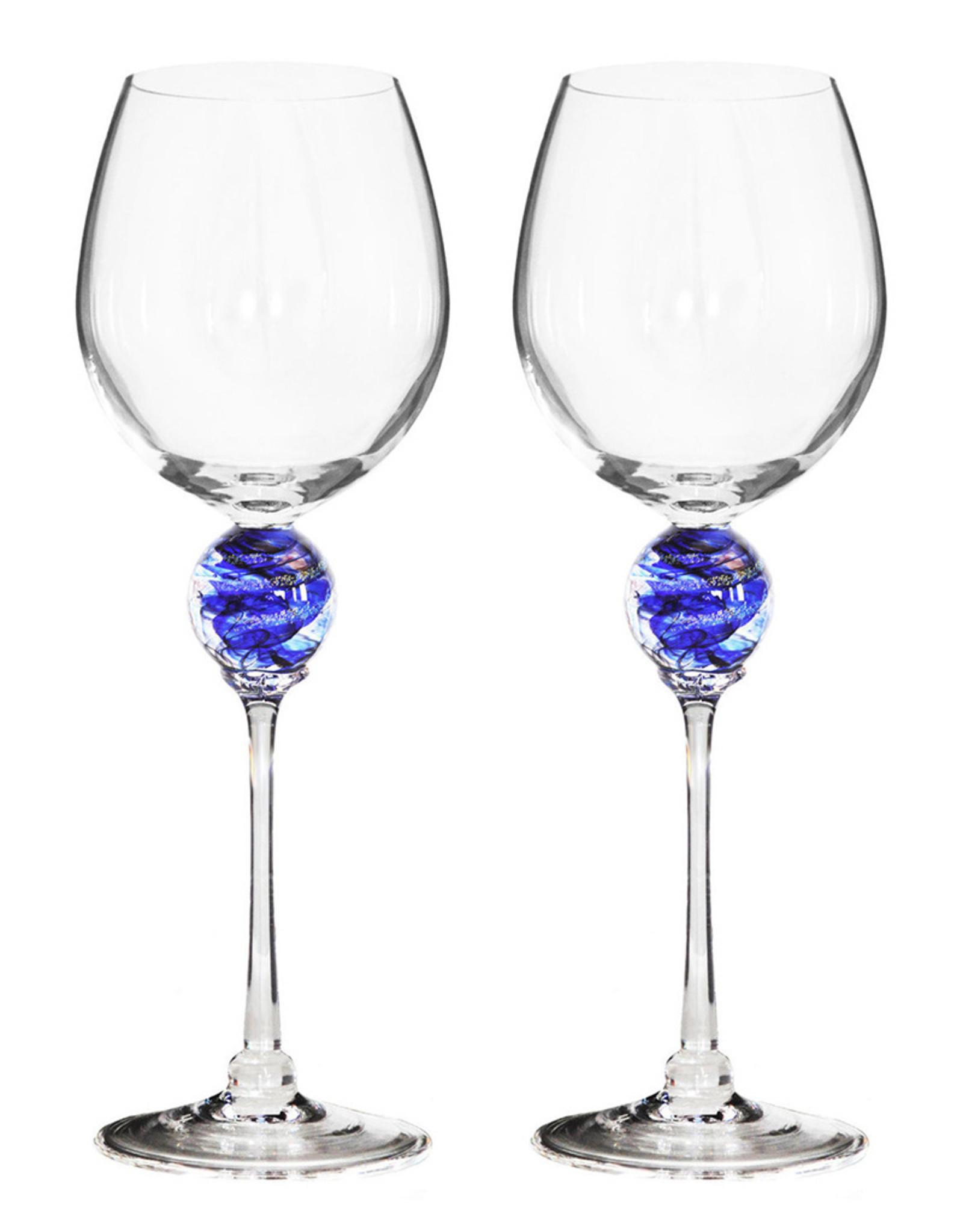 ROMEO GLASS COBALT PLANET WINE GLASS