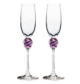 ROMEO GLASS AMETHYST PLANET FLUTE GLASS