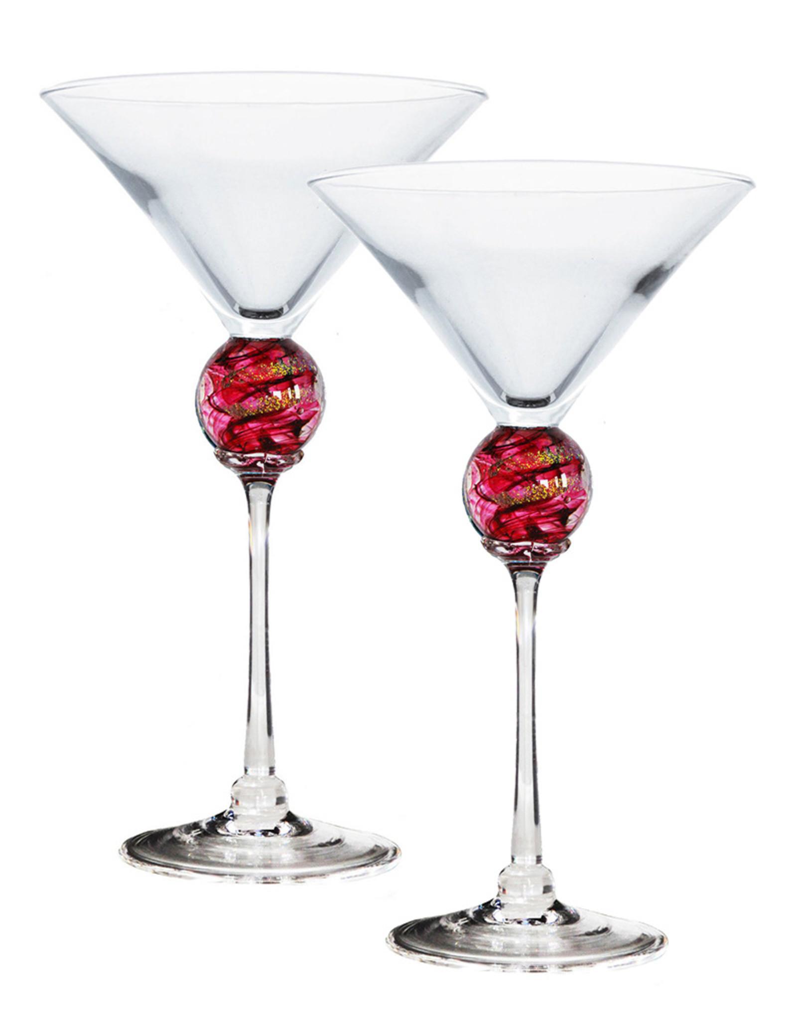 ROMEO GLASS RUBY PLANET MARTINI GLASS