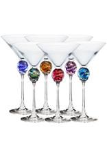 ROMEO GLASS AMETHYST PLANET MARTINI GLASS