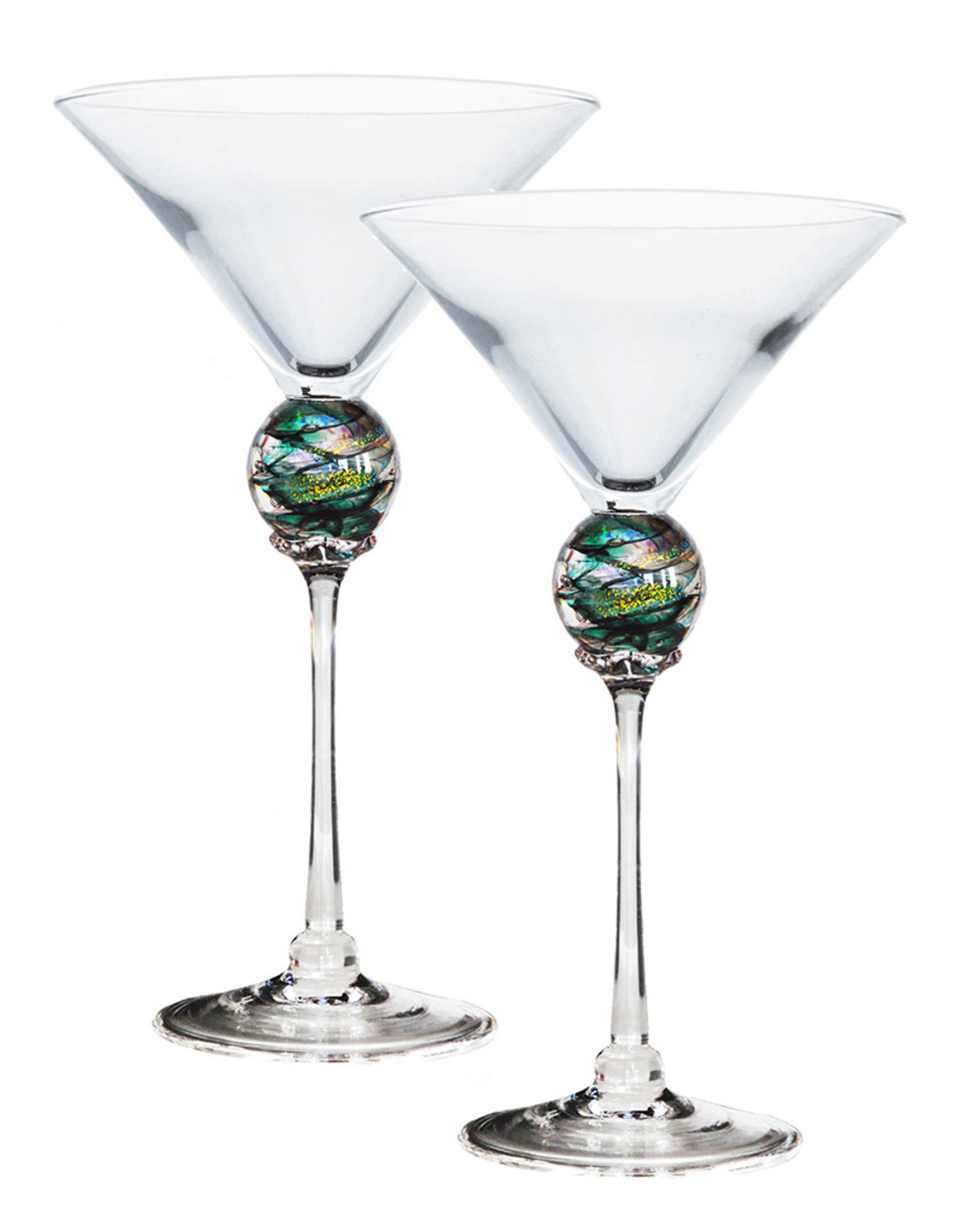ROMEO GLASS GREEN PLANET MARTINI GLASS