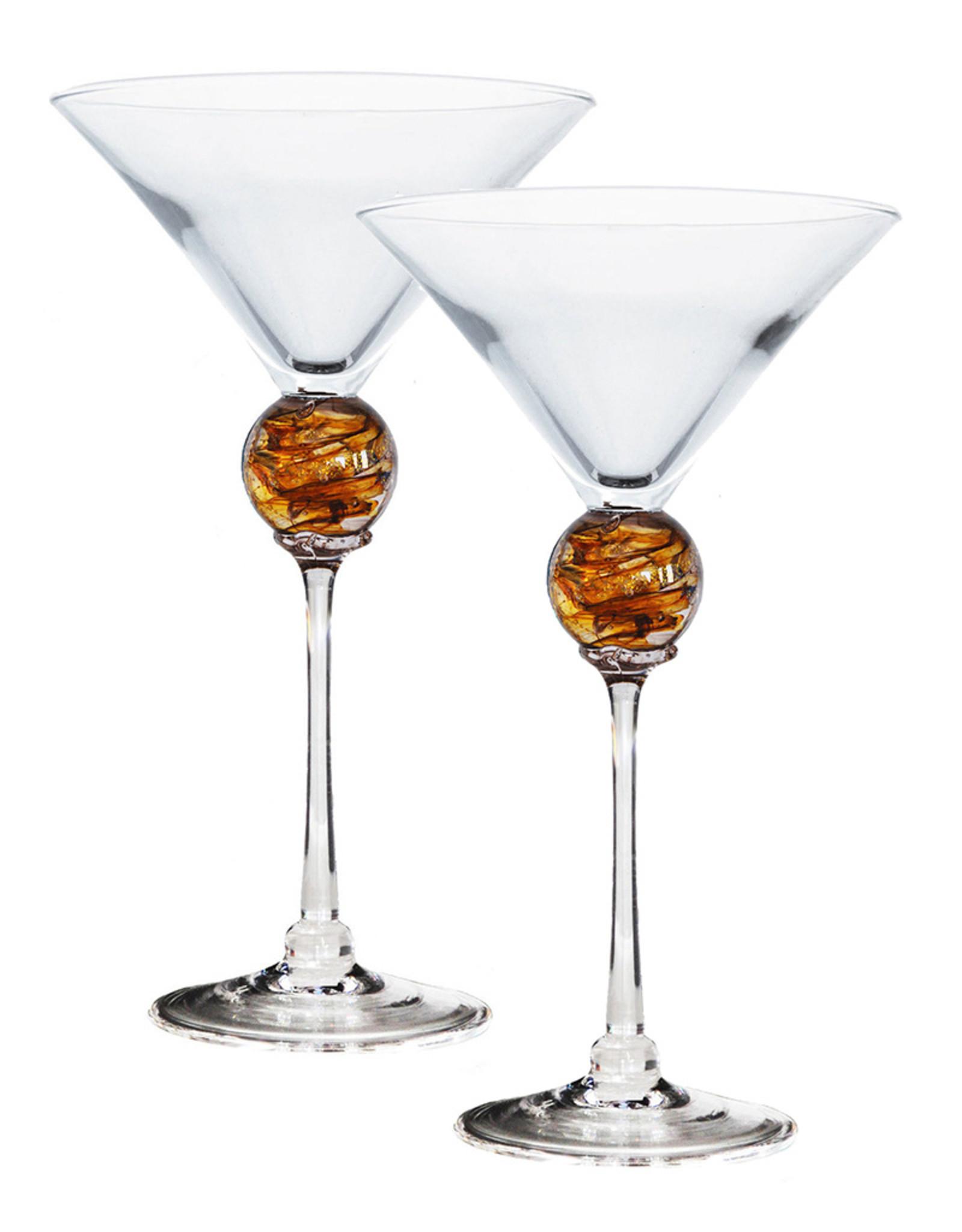 ROMEO GLASS GOLD PLANET MARTINI GLASS