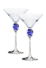ROMEO GLASS COBALT PLANET MARTINI GLASS