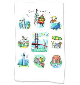 PAPER SHARKS SAN FRANCISCO DISH TOWEL