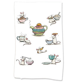 PAPER SHARKS I LOVE TEA DISH TOWEL
