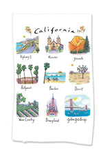 PAPER SHARKS CALIFORNIA DISH TOWEL