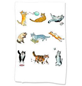 PAPER SHARKS CATS 3 DISH TOWEL